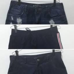 Kit 3 shorts tamanho 38