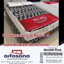 Título do anúncio: #Cama Box de Espuma Casal!!@#$%