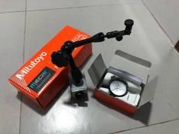 Suporte Magnético Mitutoyo 7032B é Relógio Comparador 0,01/10mm
