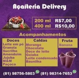 Açaí Delivery-funcionamento e entrega na descrição abaixo