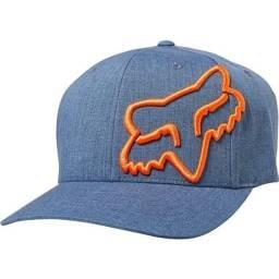 Boné Fox Clouded azul jeans - somos loja, parcelamos