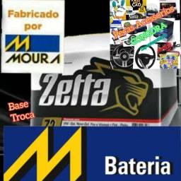 Título do anúncio: Bateria zetta fabricada pela Moura