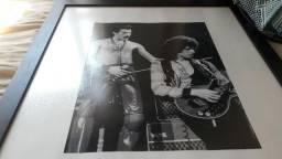 Chance ÚNICA - Quadro Vintage do Freddy Mercury!! + CD Queen Greatest Hits por mais R$ 10