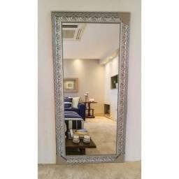 Espelho com moldura 163x63