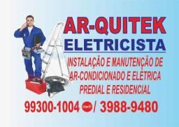 Instalação de ar-condicionado e elétrica em geral