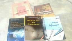 Vendo ou troco por celular livros de tecnico de enfermagem otimo estado