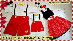 Kit Família Mickey e Minnie