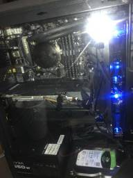 Pc gamer i7 7700k placa de vídeo 1060 6gb 16 gb de ram e ssd 240 gb water cooler