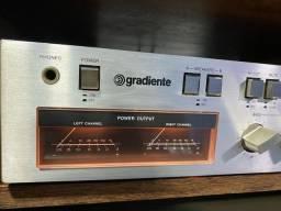 Amplificador gradiente model 126 das antigas tudo funcionando perfeitamente impecavel