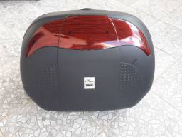 Baú para moto Novo 45 litros pra dois capacetes 150