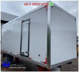 Bau 5,50mts pra caminhão frigorifico remanufaturado Mathias implementos