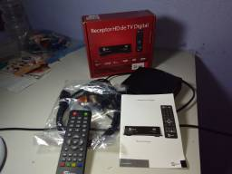 Receptor HD digital com controle remoto