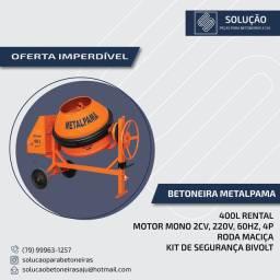 Betoneira METALPAMA Rental BM-400L  Com Motor Elétrico 220V Monofásico