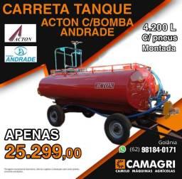 Carreta Tanque Combate c/ kit combate incêndio