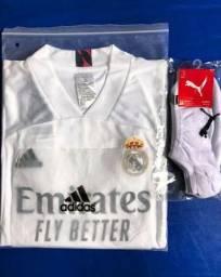 BRINDE + Camisa Time Real Madrid 2020/21
