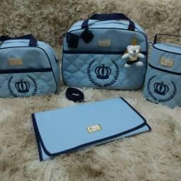 Kit de bolsa maternidade Azul baby Rei