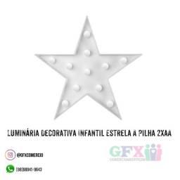 Luminária Decorativa Infantil Estrela A Pilha 2xaa