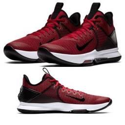 Tênis Nike Lebron Witness IV Masculino - Preto e Vermelho - N 41