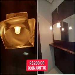Luminária 2 peças pendentes