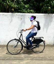 Bicicleta clássica, retrô, feita a mão, importada.