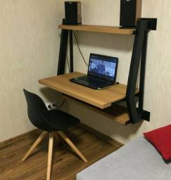 Mesa de trabalho estilo industrial