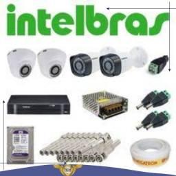 Kit cftv intelbras 04 cameras por 1.699