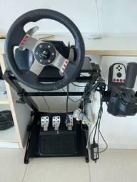 Cockpit completo G27 Volante Pedais e Câmbio