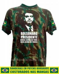 Título do anúncio: Camisetas Bolsonaro Brasil Camufladas Exército