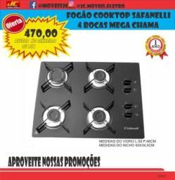 Título do anúncio: Fogão Cooktop Safanelli 4 Bocas Mega Chama Em Promoção
