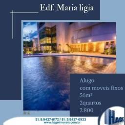 Título do anúncio: Edf Maria Ligia/ Boa Viagem/2 Quartos/ 56m² /Varanda /área de lazer/semi-mobilhado/1 vagas
