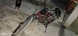 Vendo bicicleta motorizada semi nova