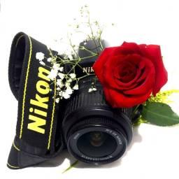 Câmera D40 com 18X55