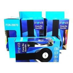 Fone de Ouvido Headphone Inova S/ Microfone Estéreo Grave FON-2067D - Envio Rápido