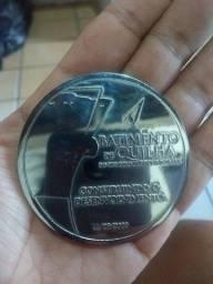 Medalhas comemorativas do primeiro navio que o ex Presidente Lula participou