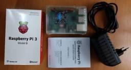 Kit Raspberry Pi3 Model B +fonte + Case +dissipador + Cooler