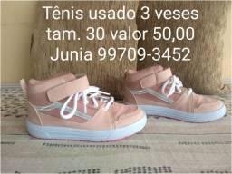 tênis rosa tamanho 30