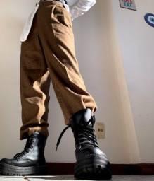 Calça alfaiatada marron