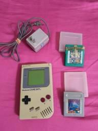 Título do anúncio: Game Boy Dmg 01 1989 Original + 2 Jogos