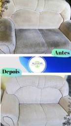 Higienização e limpeza de estofados