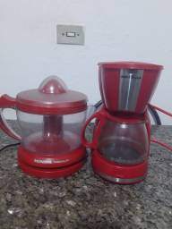 Cafeteira e espremedor de suco seminovos