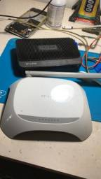 Roteador e modem