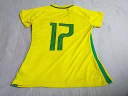 Camisa seleção brasileira feminina ,tamanho m..