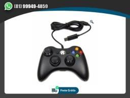 Controle Com Fio Xbox 360 Pc Computador 2 Metros Cabo Usb