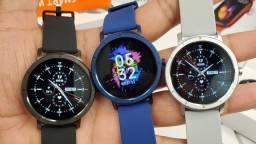 Smartwatch Hw21 Preto novo  Top de linha  Smartwatch Redondo