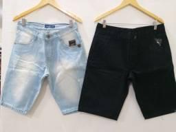Promocao 2 bermudas jeans por apenas $100,00