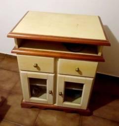 Escrivaninha com gaveteiro + armarinho ( conjunto), madeira pura . Móveis de qualidade