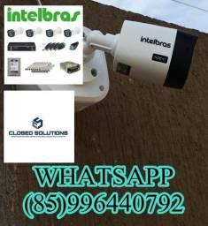 Kit 4 câmeras de segurança Intelbras instalado 1700,00
