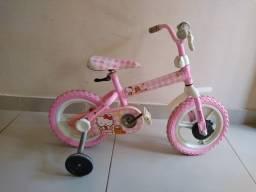 Bicicleta Caloi Hello Kitty infantil