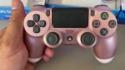 Controle PS4 Gold Rose Novo