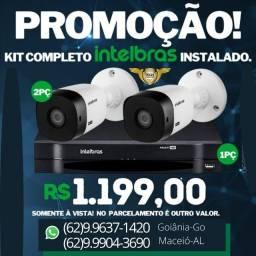 Promoção 02 cameras intelbras por 1,199